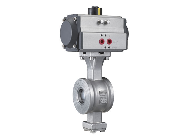 ISO 5211 direct mounting pad V  wafer type ball valve GB Series