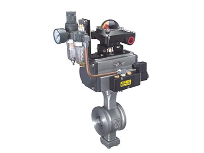 ISO 5211 direct mounting pad V  wafer type ball valve ANSI Series