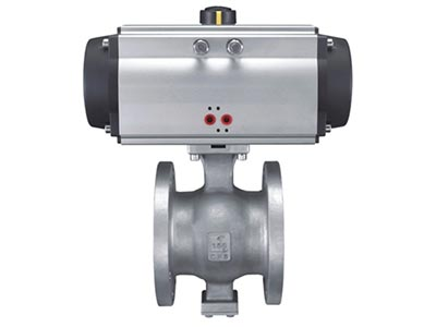 ISO 5211 direct mounting pad V  flange type ball valve GB Series