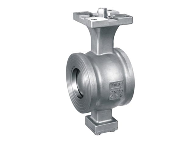 ISO 5211 direct mounting pad V segment wafer type ball valve GB Series