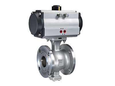 ISO 5211 direct mounting pad V  flange type ball valve ANSI Series